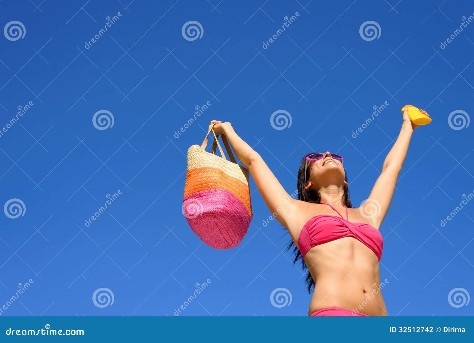 Lycklig sommar med sunscreenhudskydd