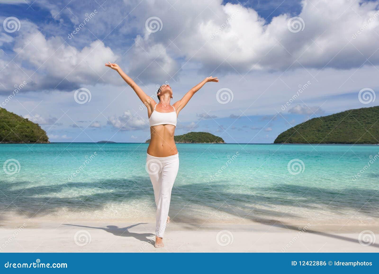 Lycklig sund kvinna