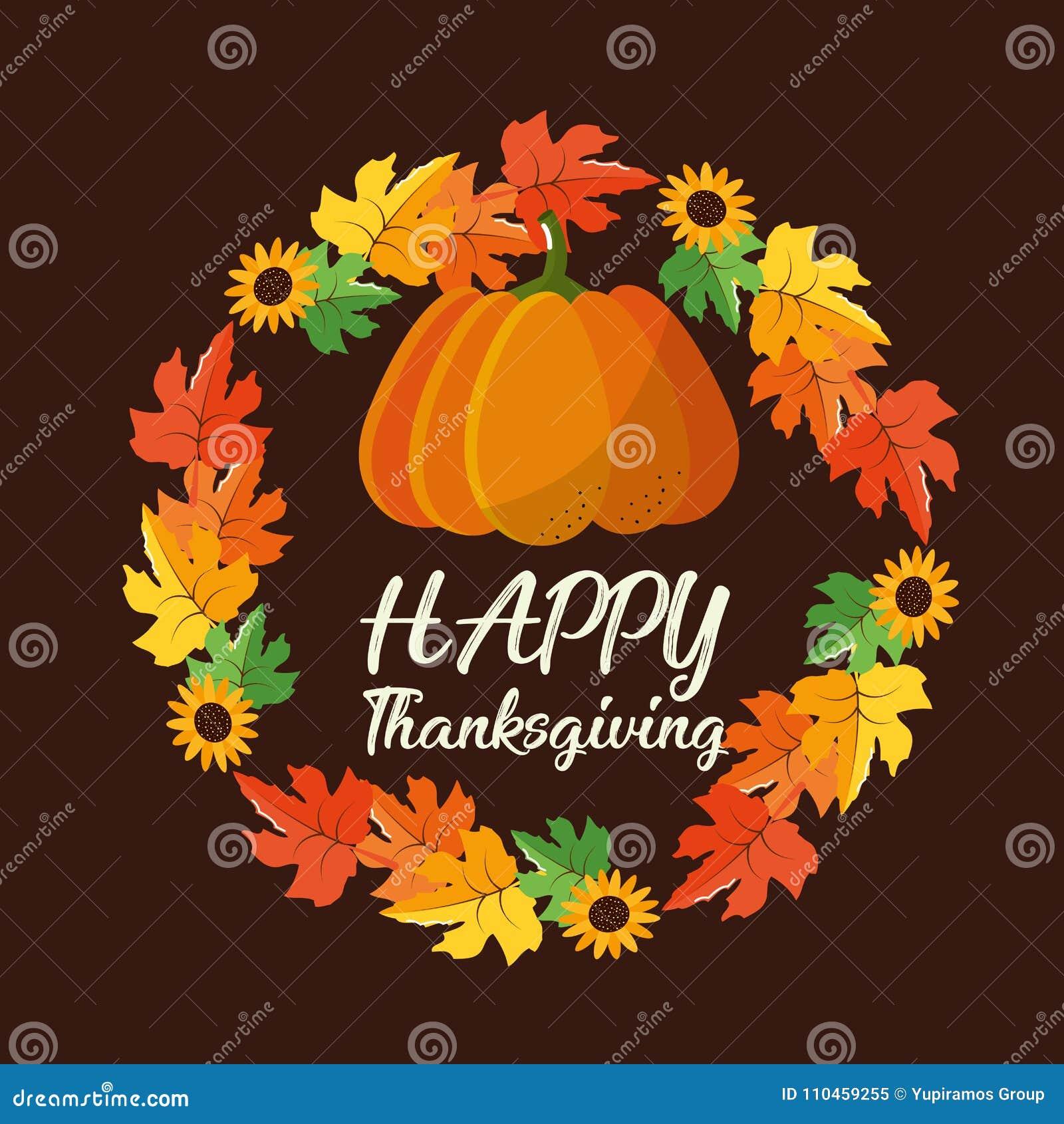 Lycklig tacksägelsedagdesign