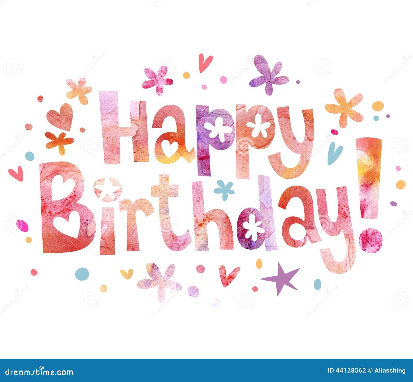 text till födelsedag Lycklig Text För Födelsedag Stock Illustrationer   Illustration av  text till födelsedag