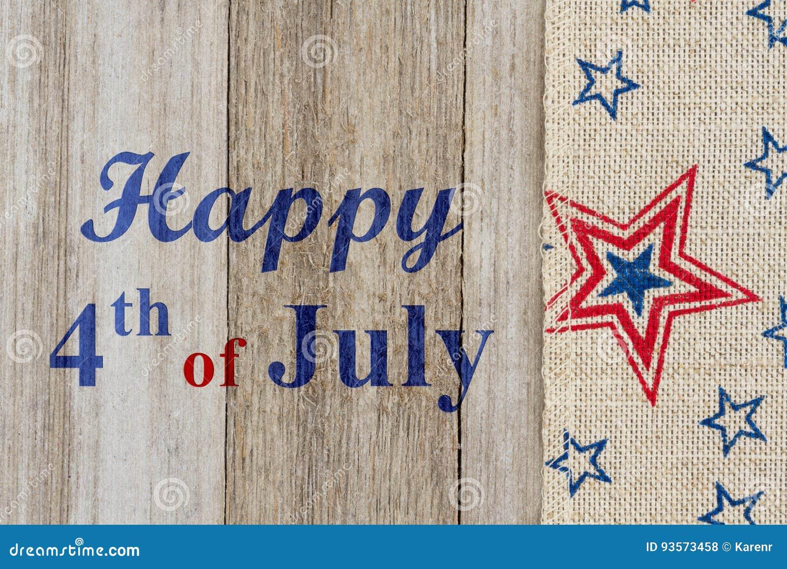Lycklig 4th av den Juli hälsningen