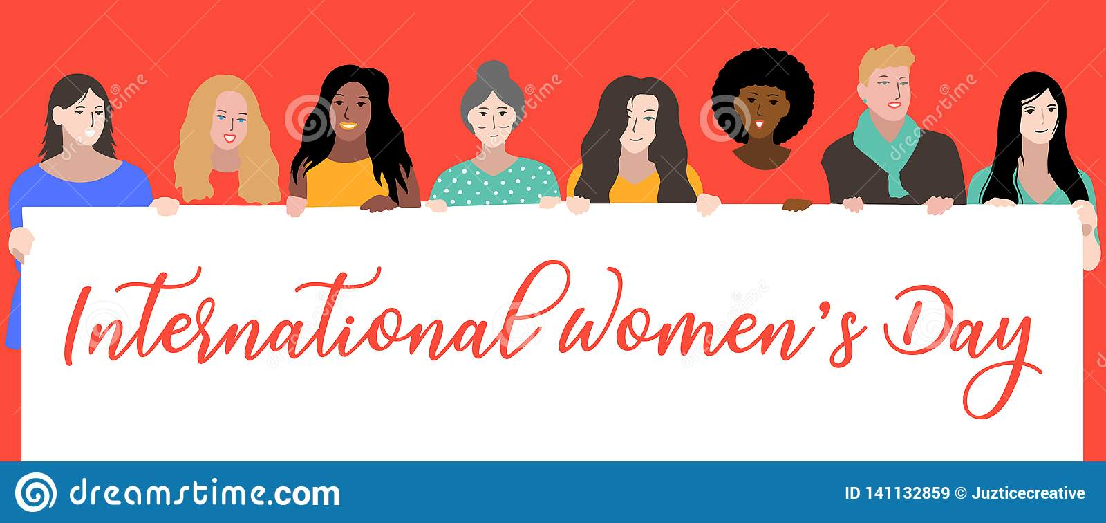 Lyckliga internationella kvinnors dag 8th mars