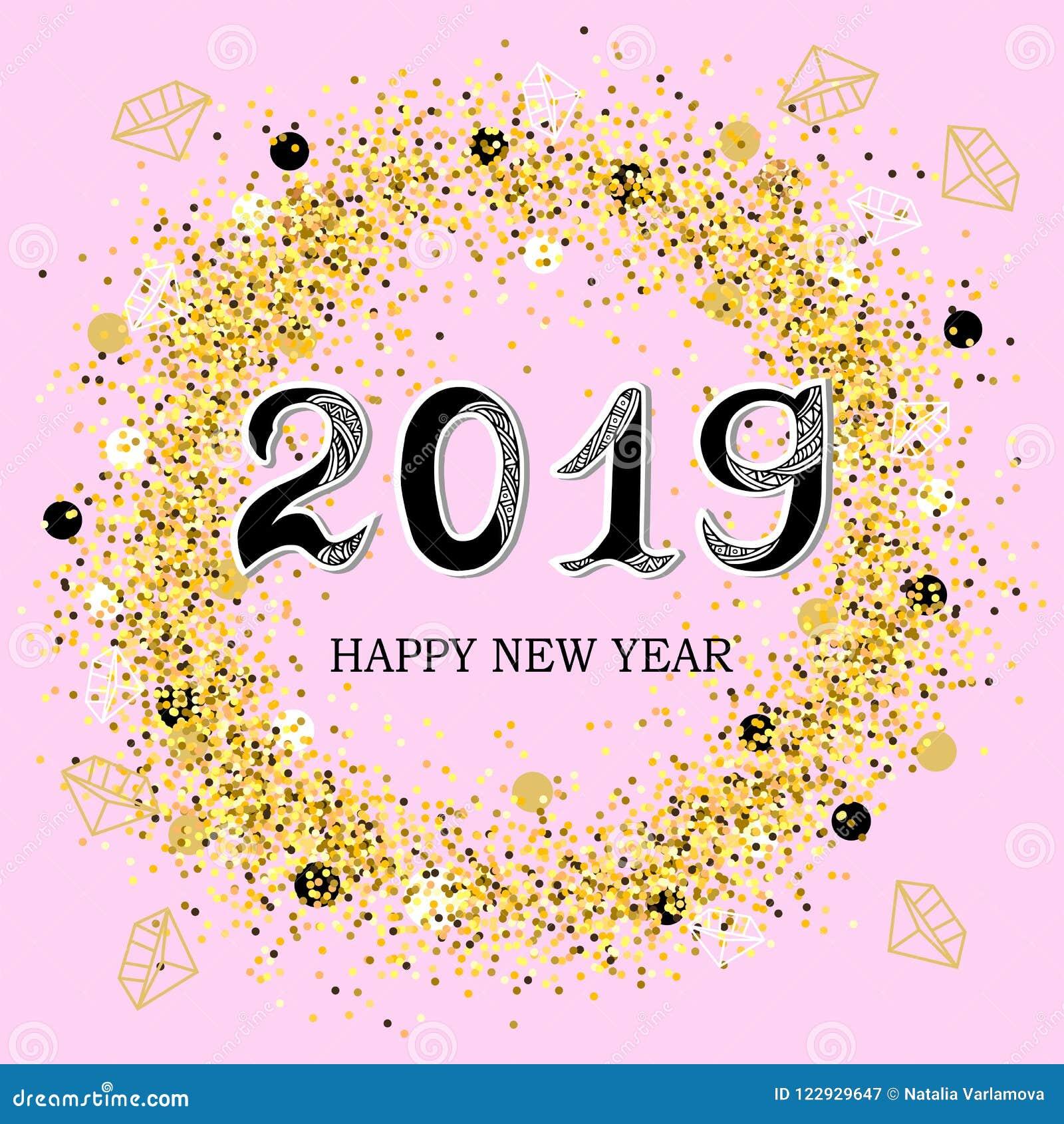 2019 lyckliga nya år
