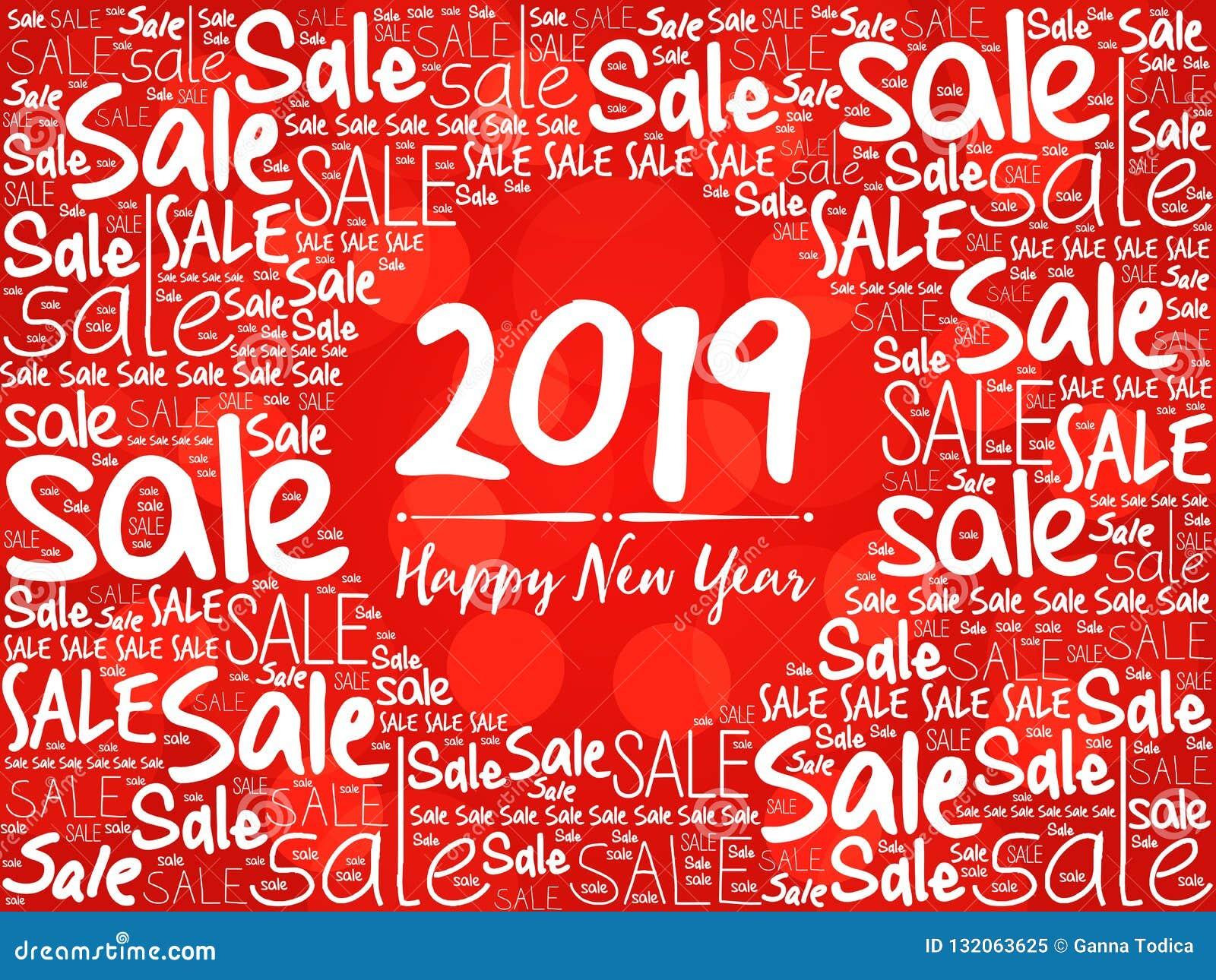 2019 lyckliga nya år Sale julbakgrund