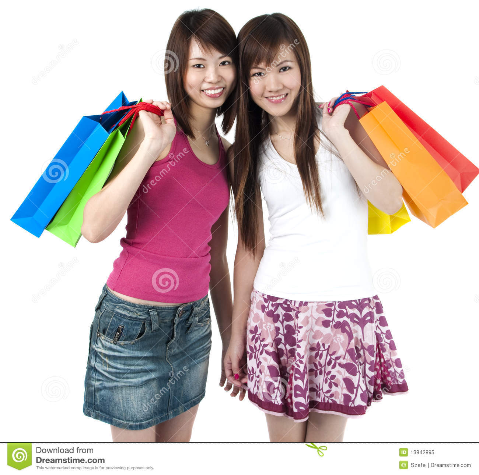 Lyckliga shoppare