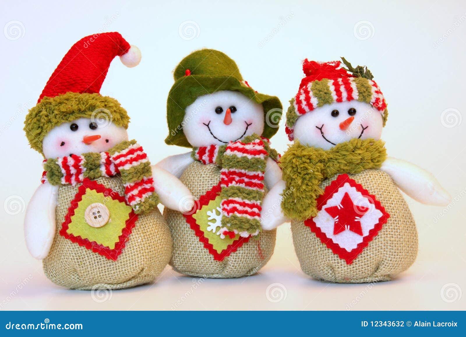Lyckliga snowmen för jul