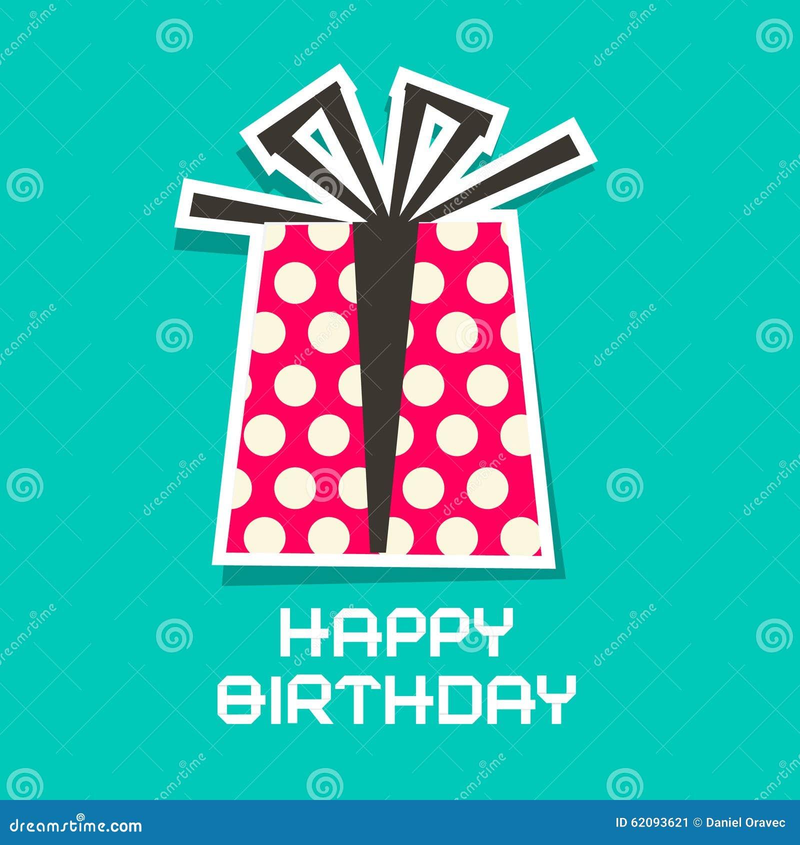 Lyckligt födelsedagkort Pappers- gåvaask för vektor