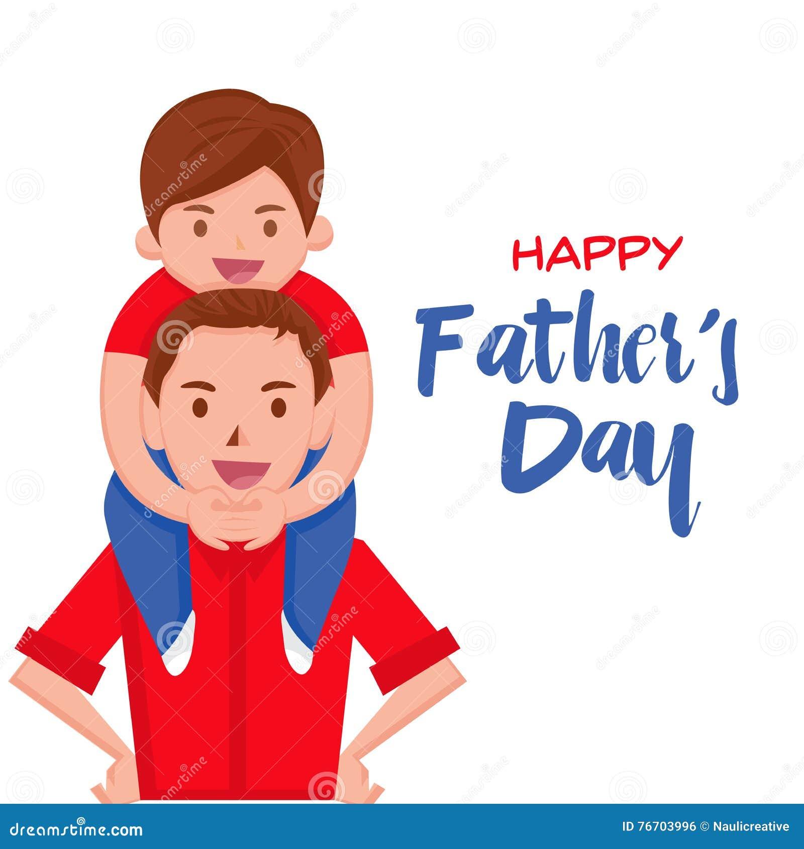 Lyckligt faders kort för dag - lyckligt ögonblick