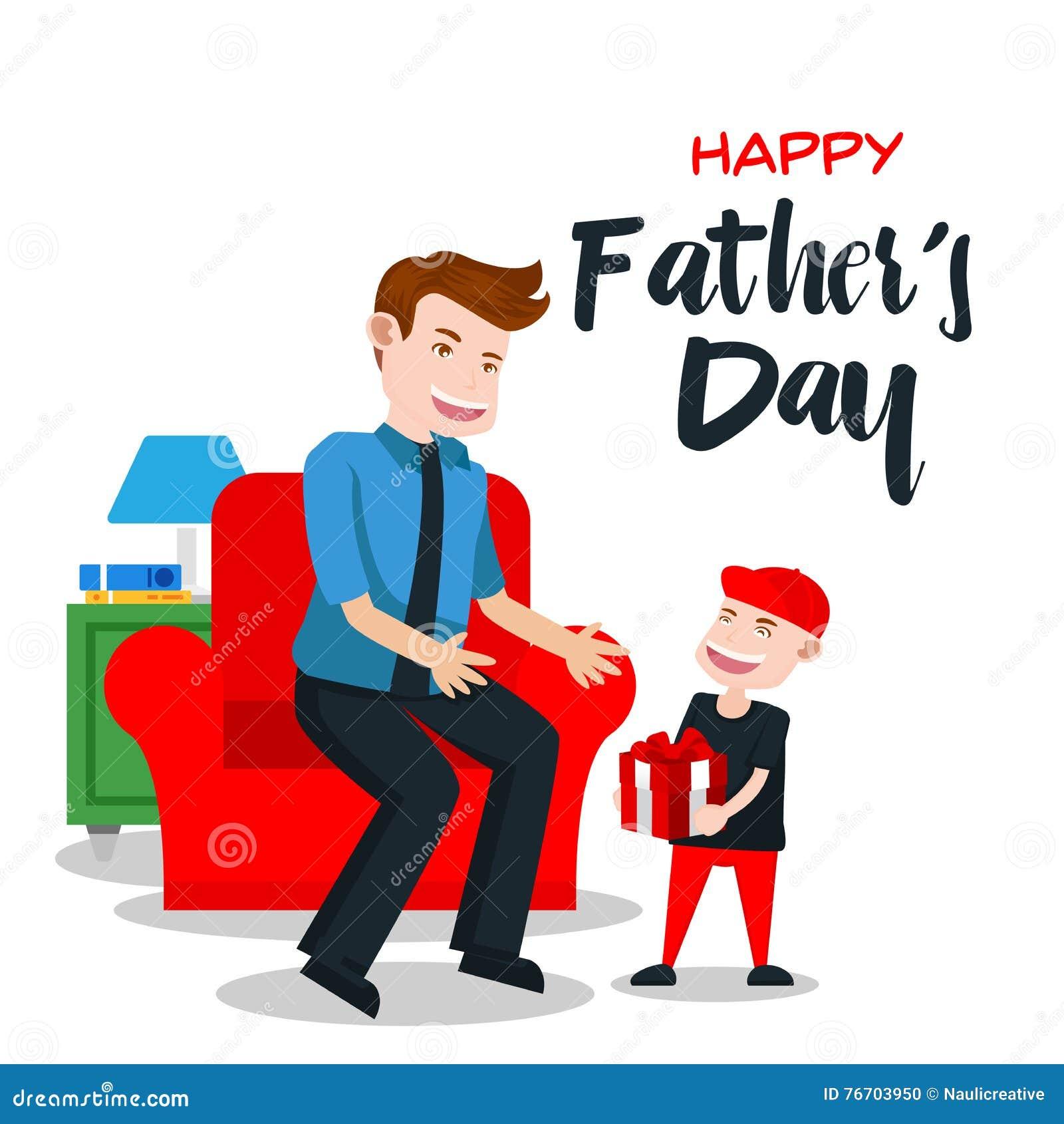 Lyckligt faders kort för dag - special gåva för pappa