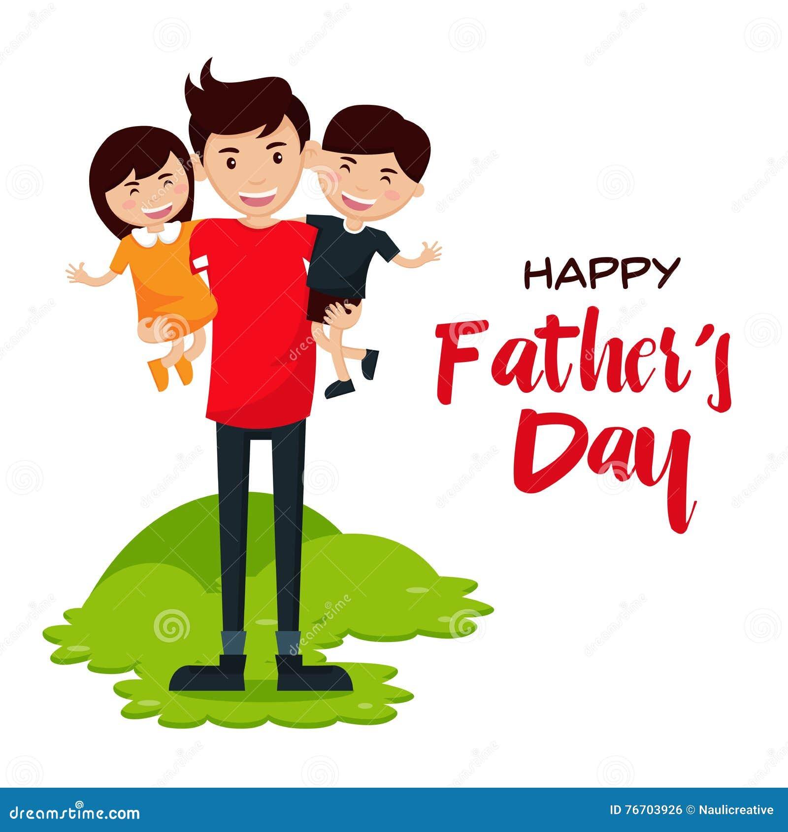 Lyckligt faders kort för dag - vi älskar pappa!