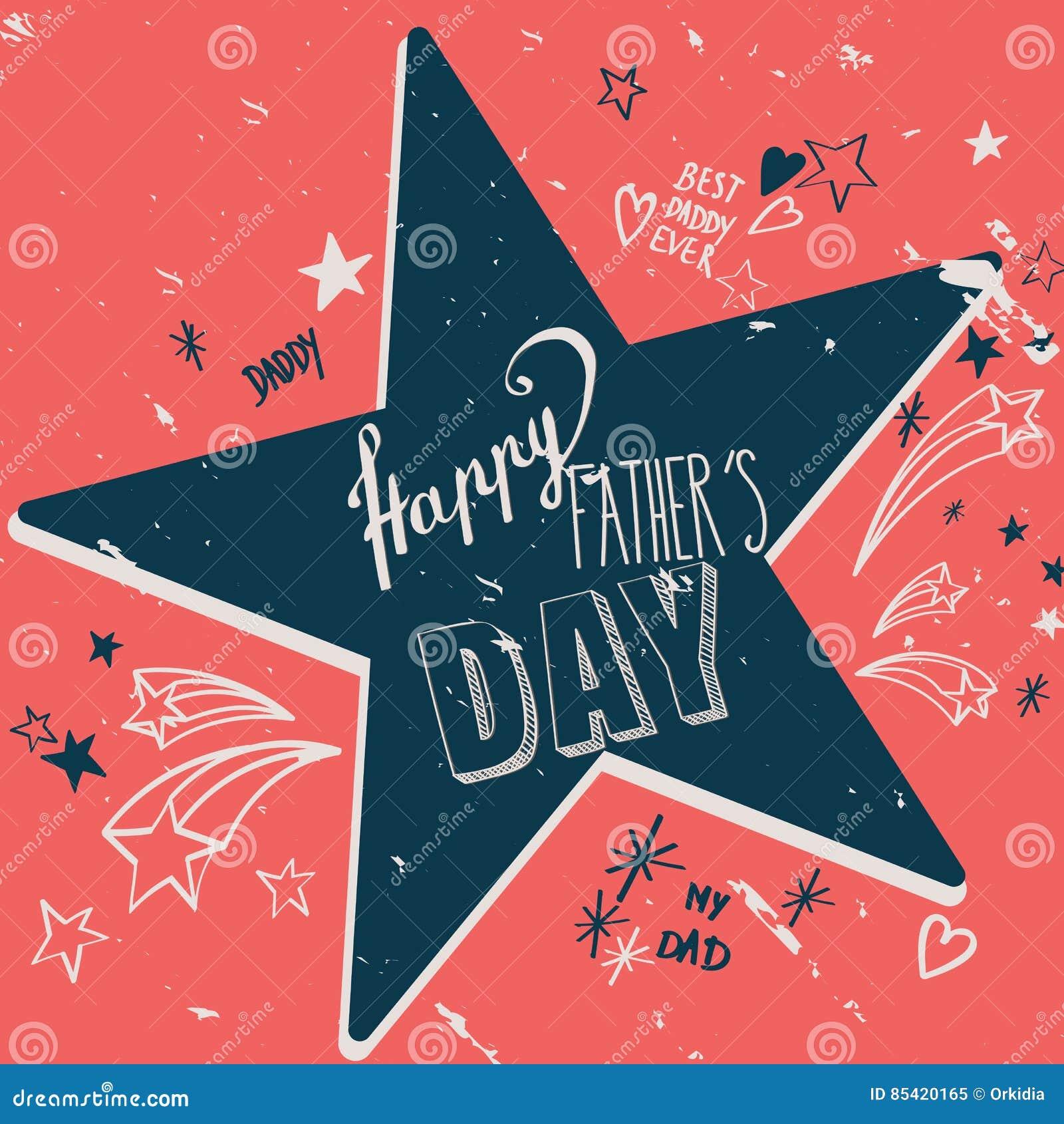Lyckligt kort för dag för fader` s