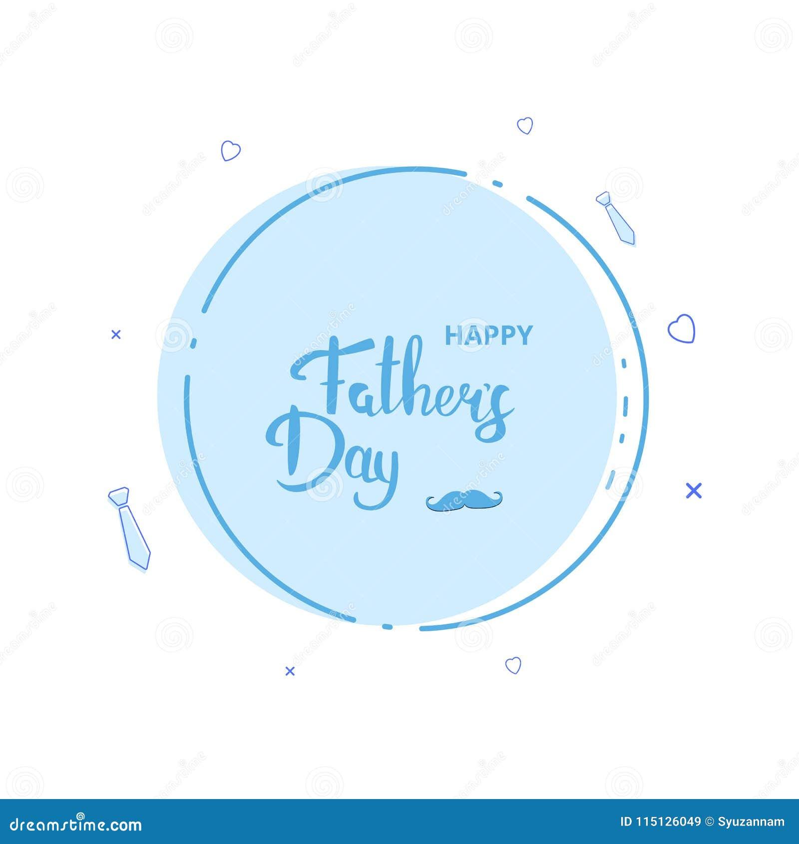 Lyckligt kort för dag för fader` s också vektor för coreldrawillustration