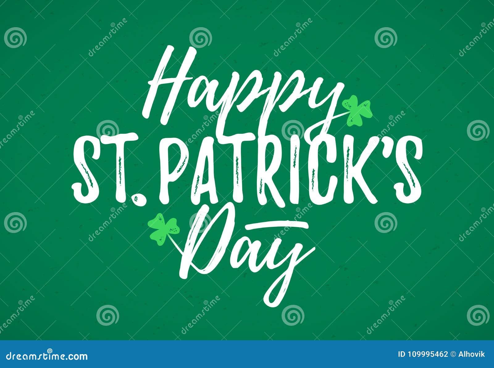 Lyckligt kort för hälsning för dag för St Patrick ` s