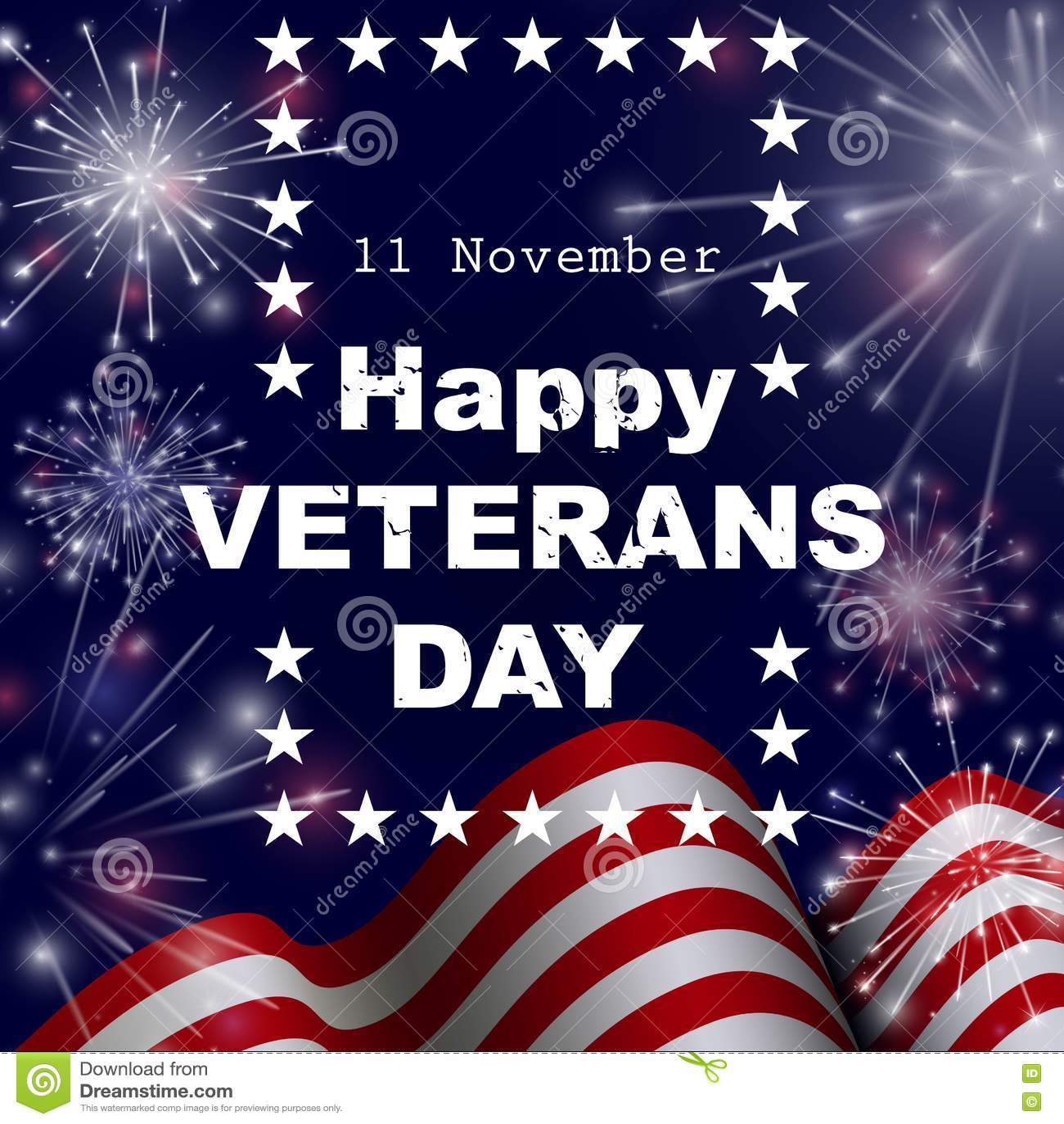 Lyckligt kort för hälsning för veterandag också vektor för coreldrawillustration
