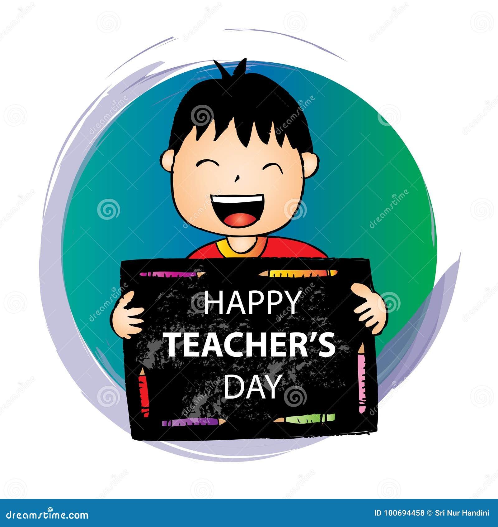 Lyckligt läraredagkort