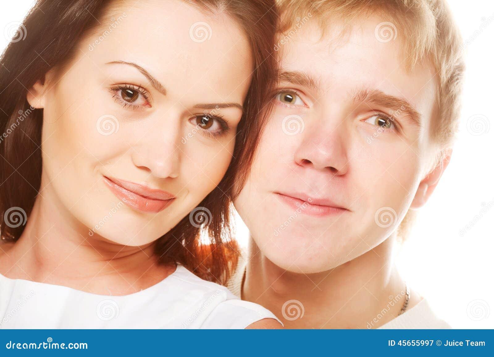 Lyckligt le för par
