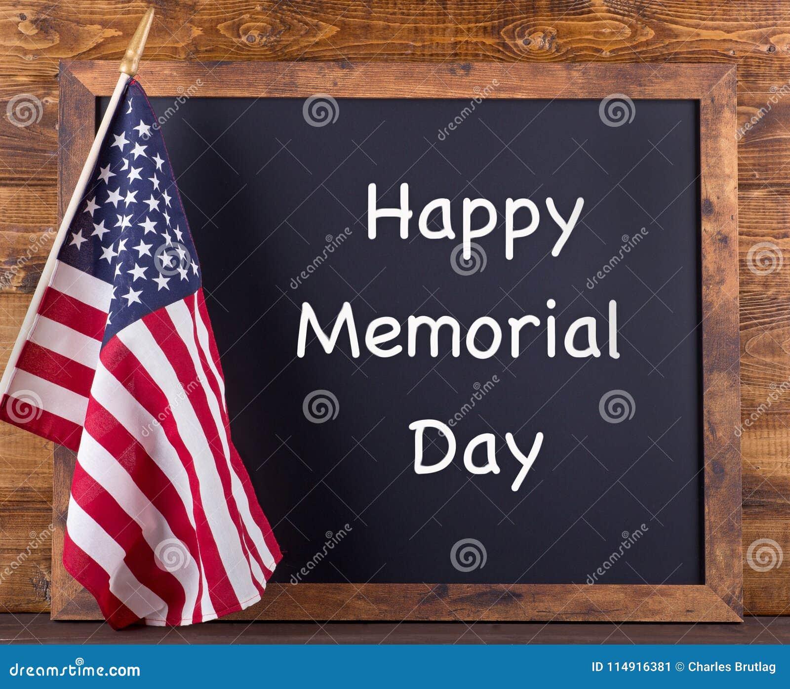 Lyckligt Memorial Day tecken