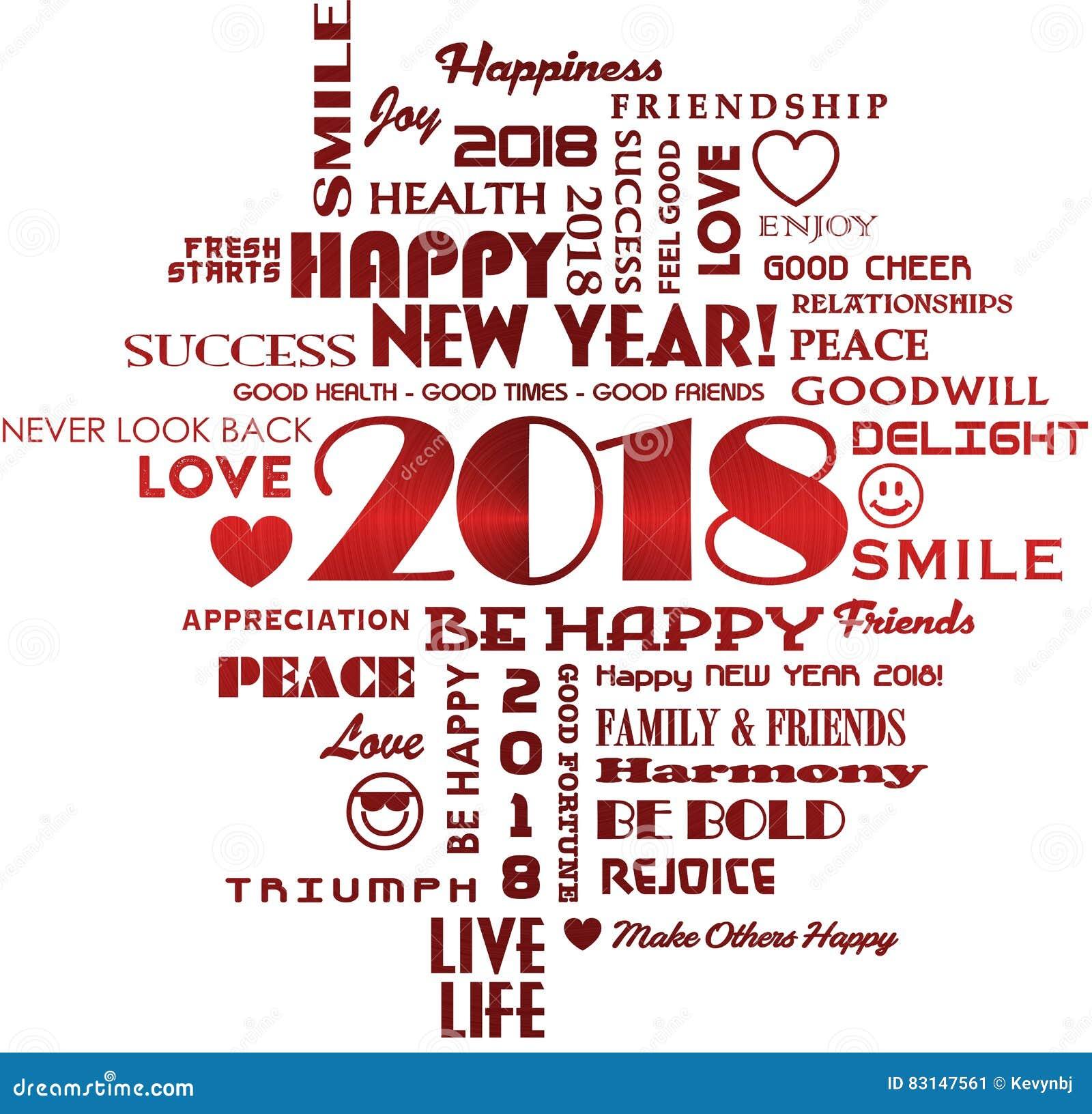 Lyckligt nytt år 2018