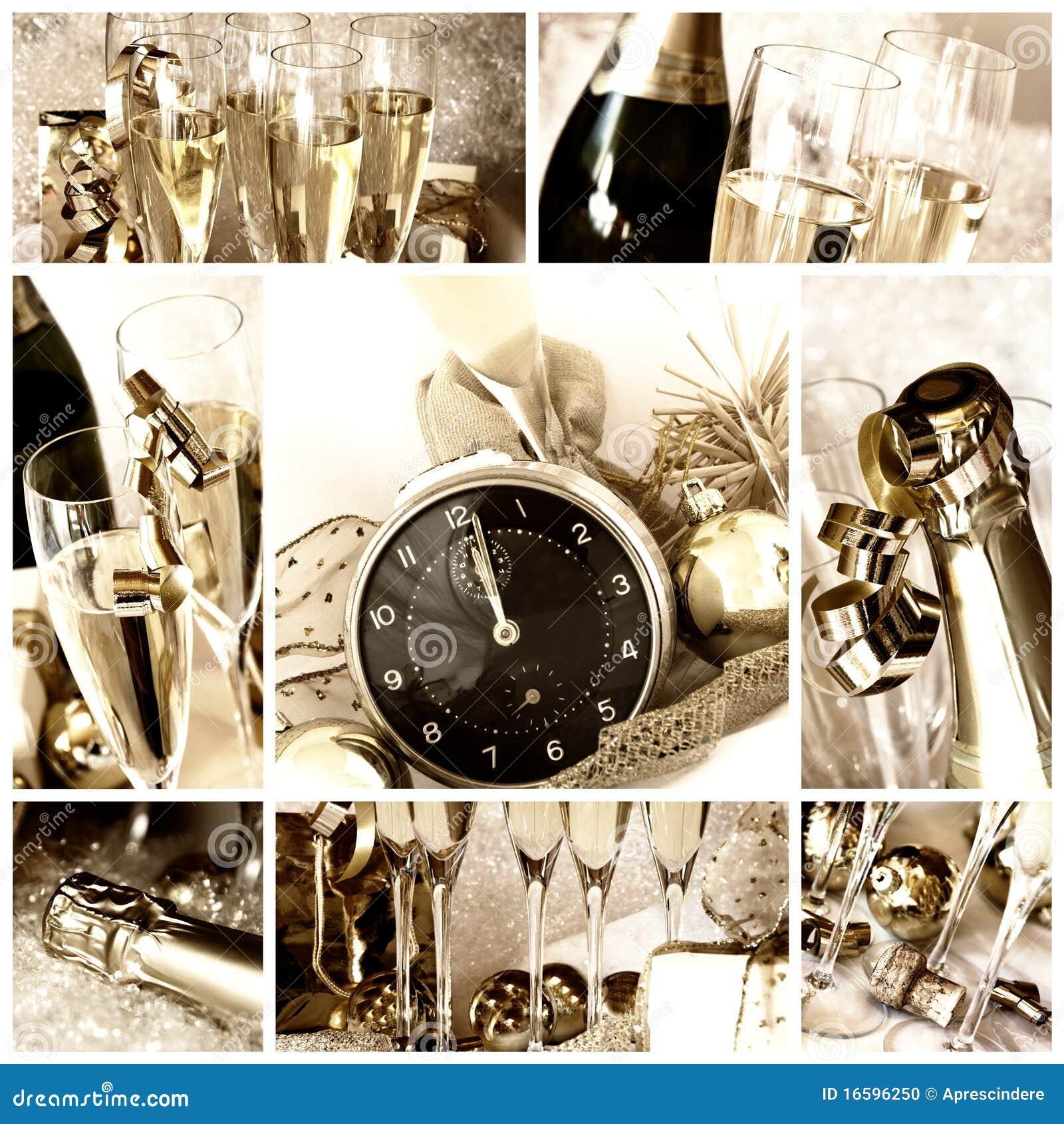 Lyckligt nytt år för collage