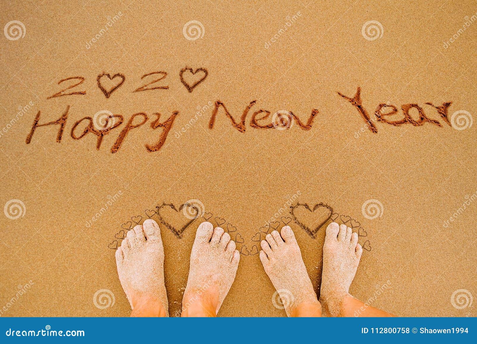 Lyckligt nytt år 2020 och vänfot