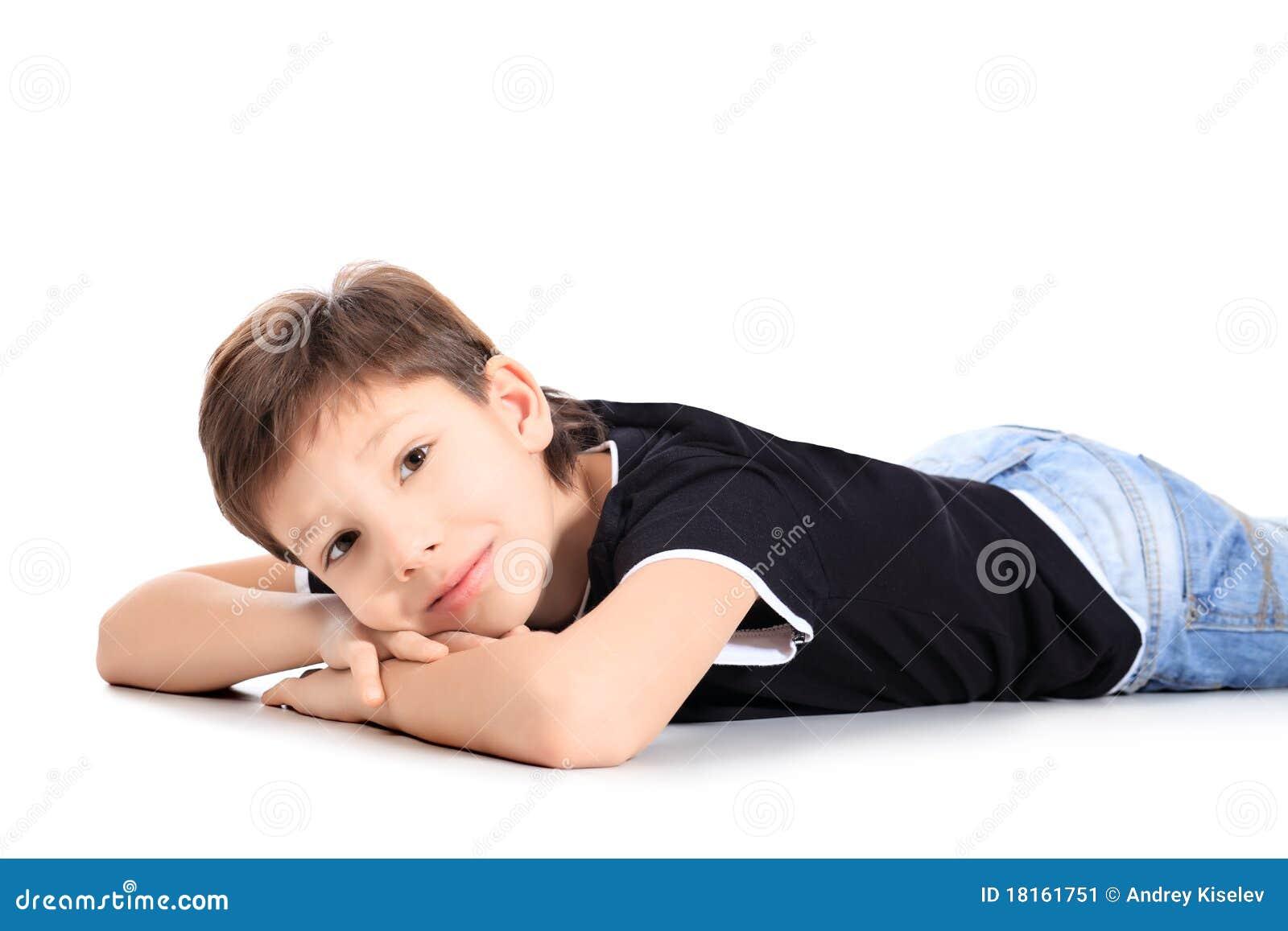 Lying Boy Stock Image Image 18161751