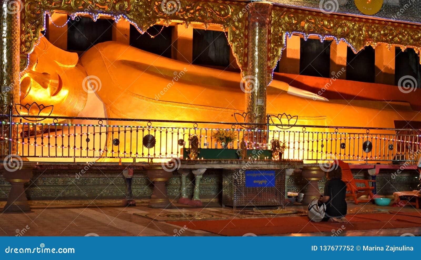 Lying Buddha in Sadan Cave, Hpa-An