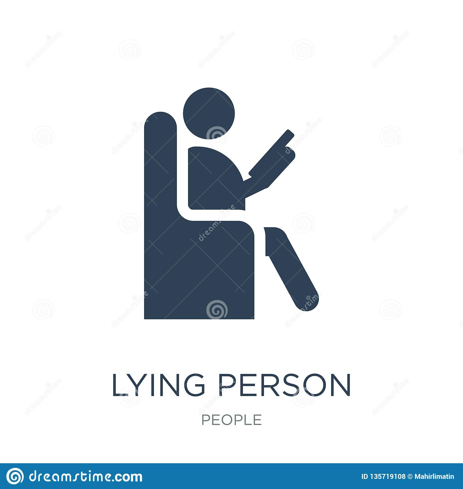 lying person reading icon in trendy design style. lying person reading icon isolated on white background. lying person reading