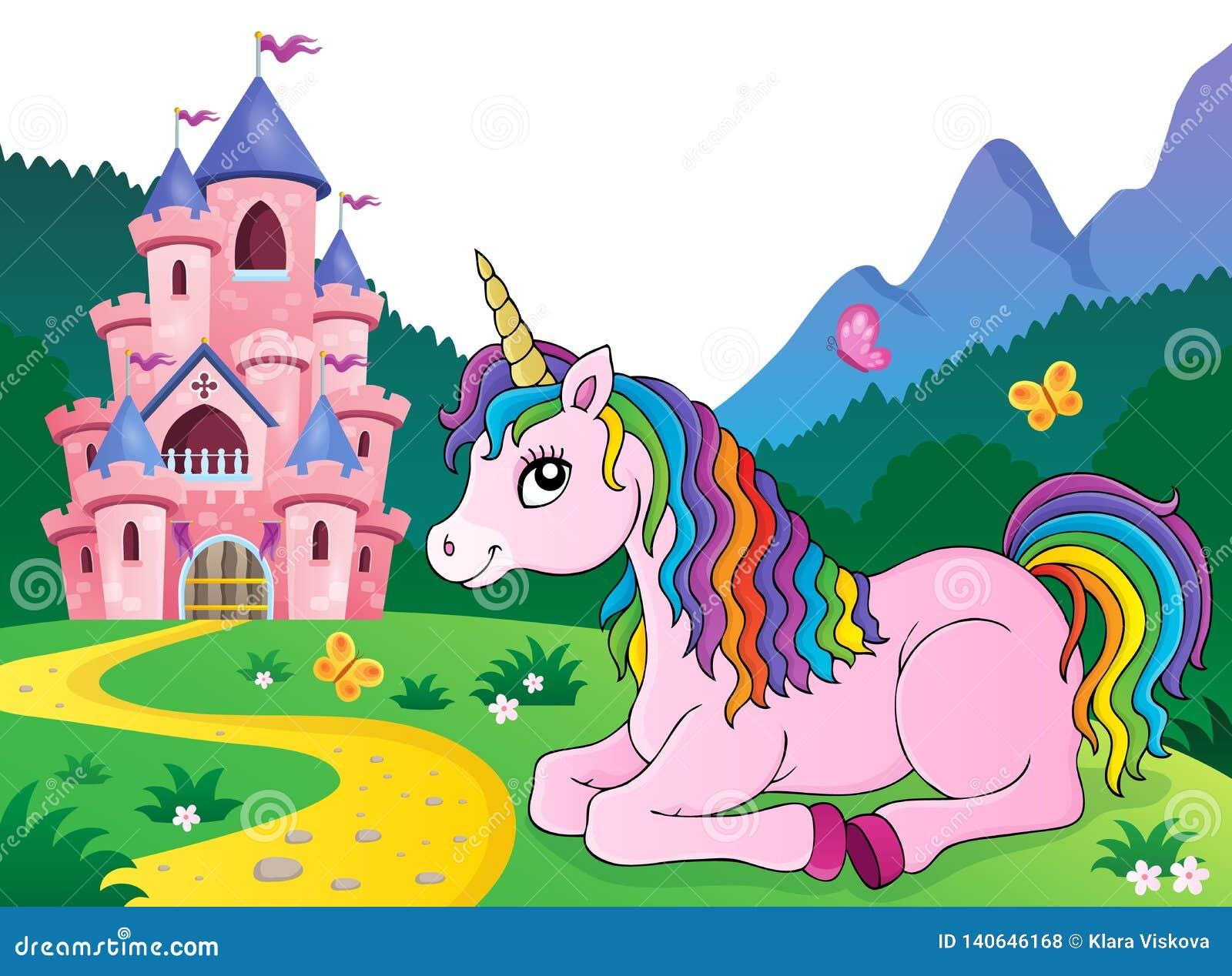 Lying unicorn theme image 4