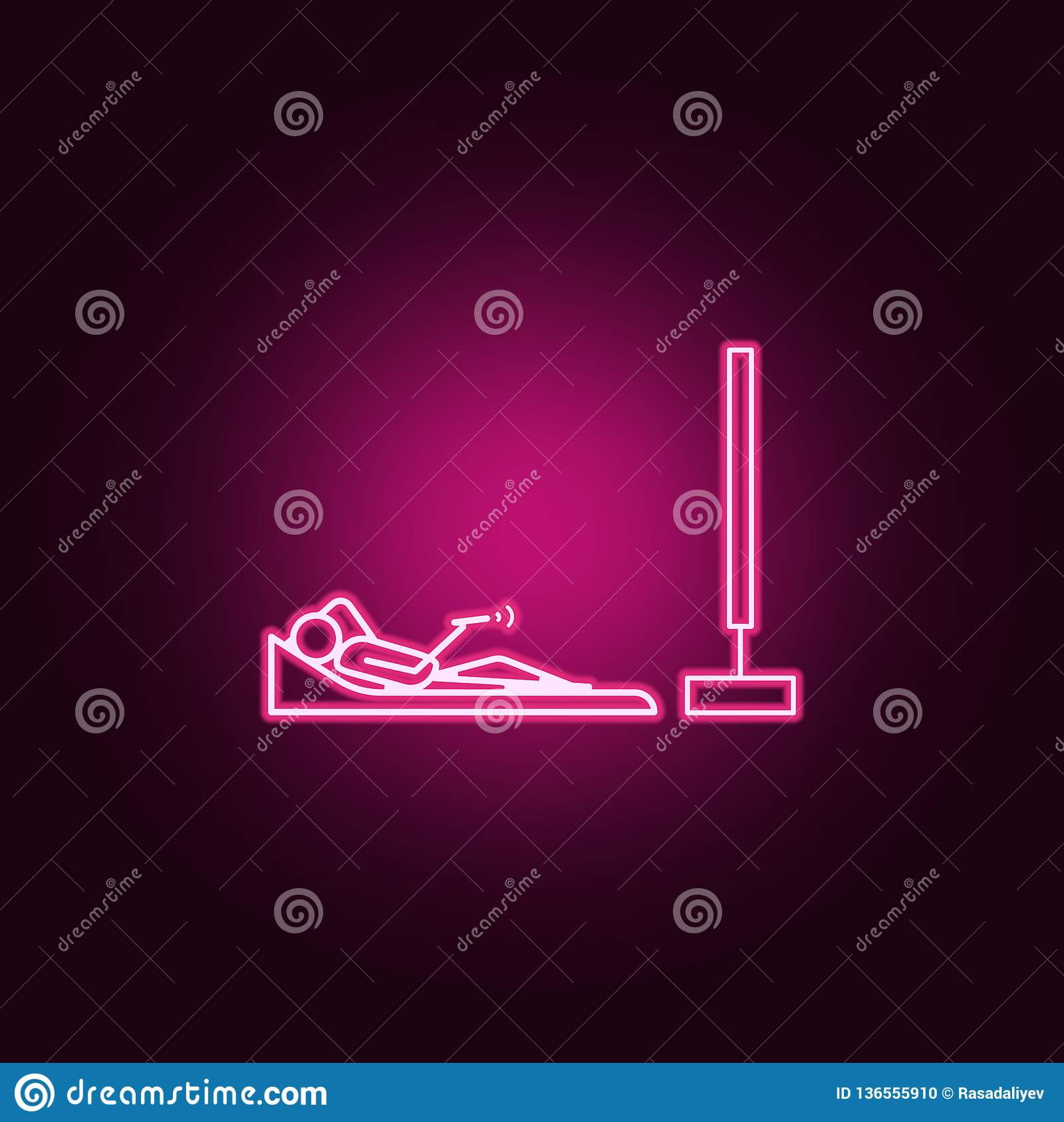 lying watching tv outline icon. Elements of Lazy in neon style icons. Simple icon for websites, web design, mobile app, info
