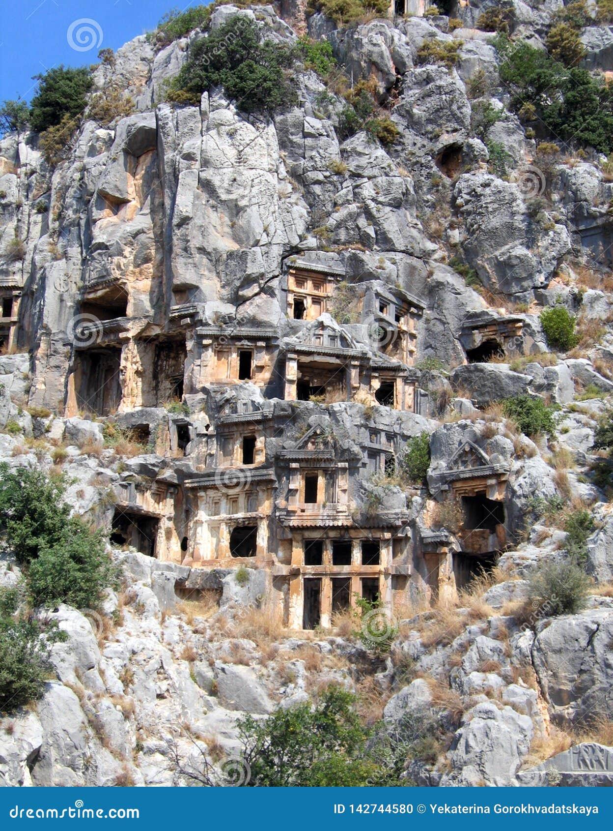 Lykian-Gräber in der Türkei