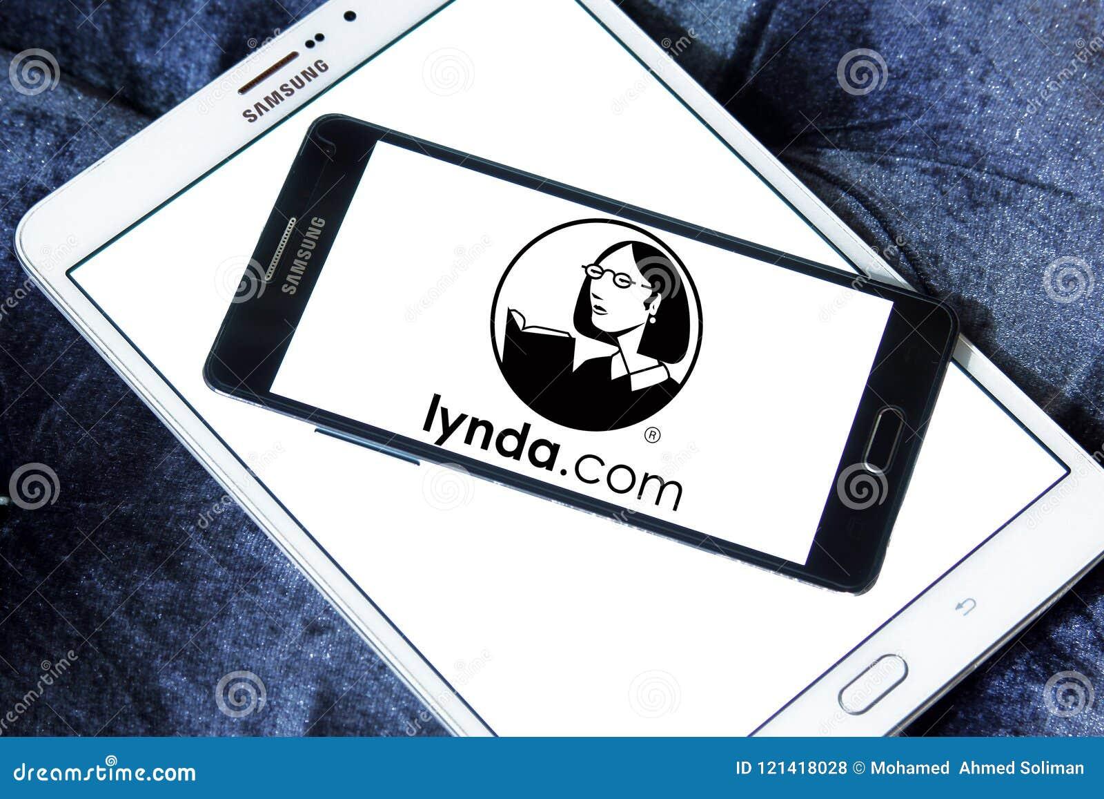 Lynda com logo editorial stock photo  Image of illustration