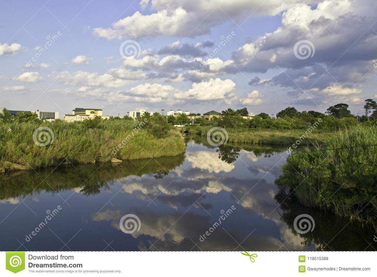 The Lynhhaven Inlet is a Tidal Estuary Located in The City of Virginia Beach, Virginia