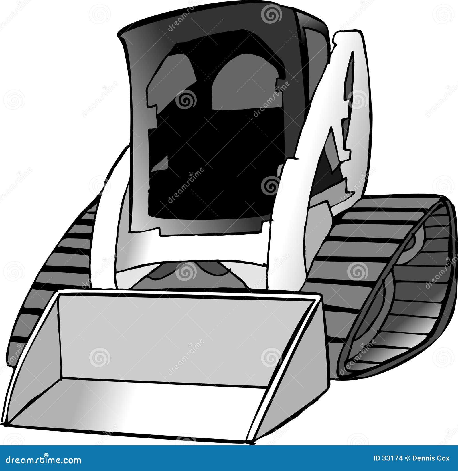 Lynx rudy ciągnika