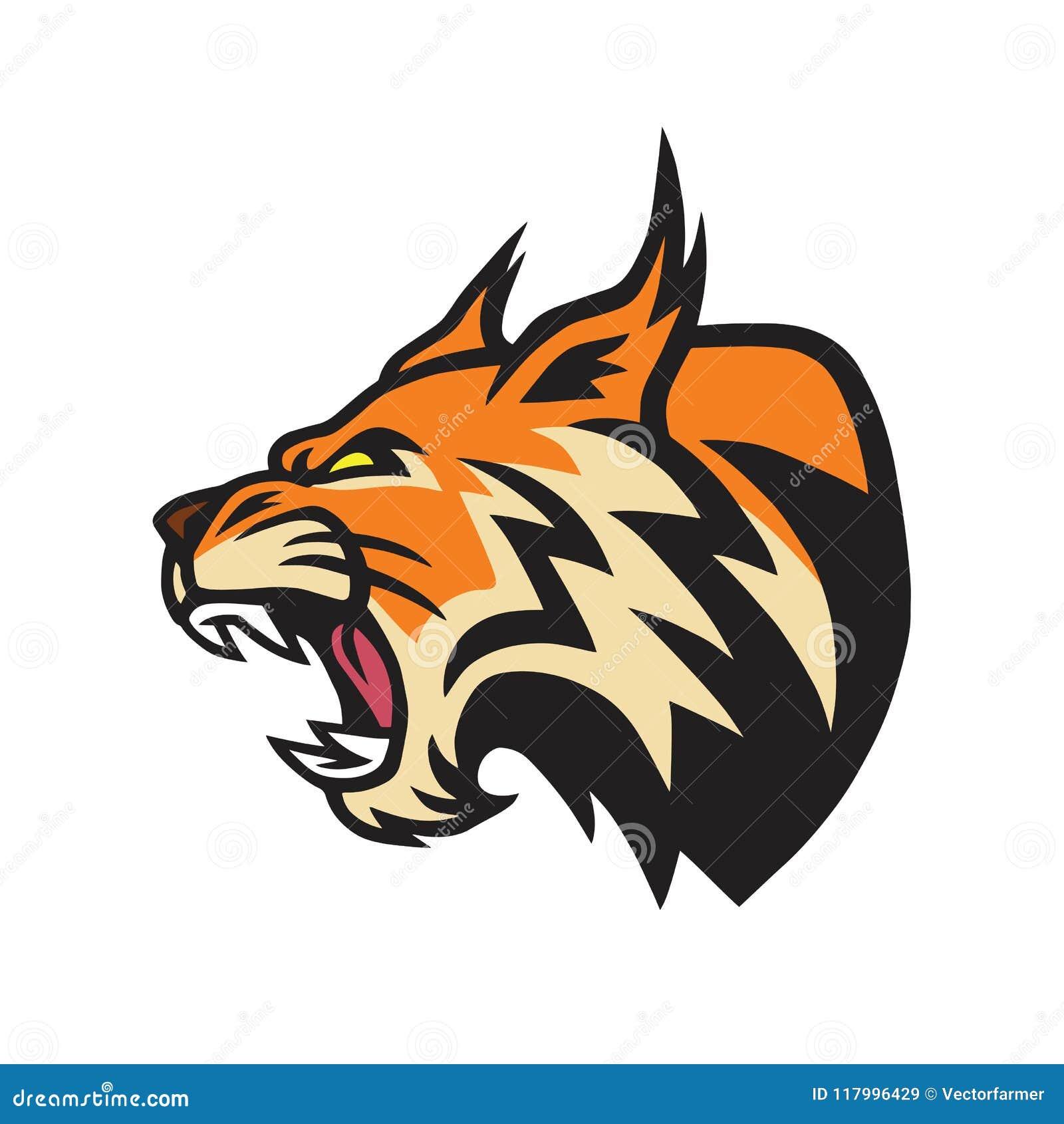 lynx wildcat logo mascot vector stock vector illustration of
