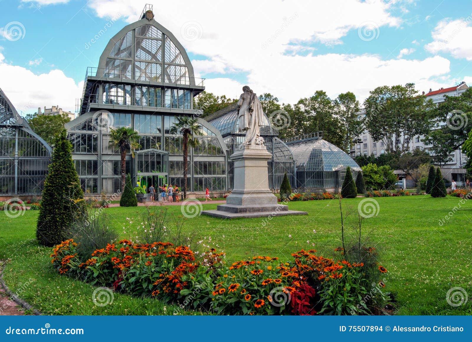 Lyon jardin botanique de parc d 39 or de tete image stock for Jardin lyon