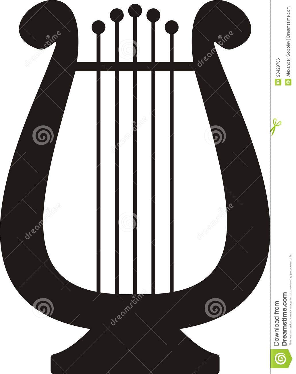 Lyre Symbol Of Music And Arts Stock Vector Illustration Of