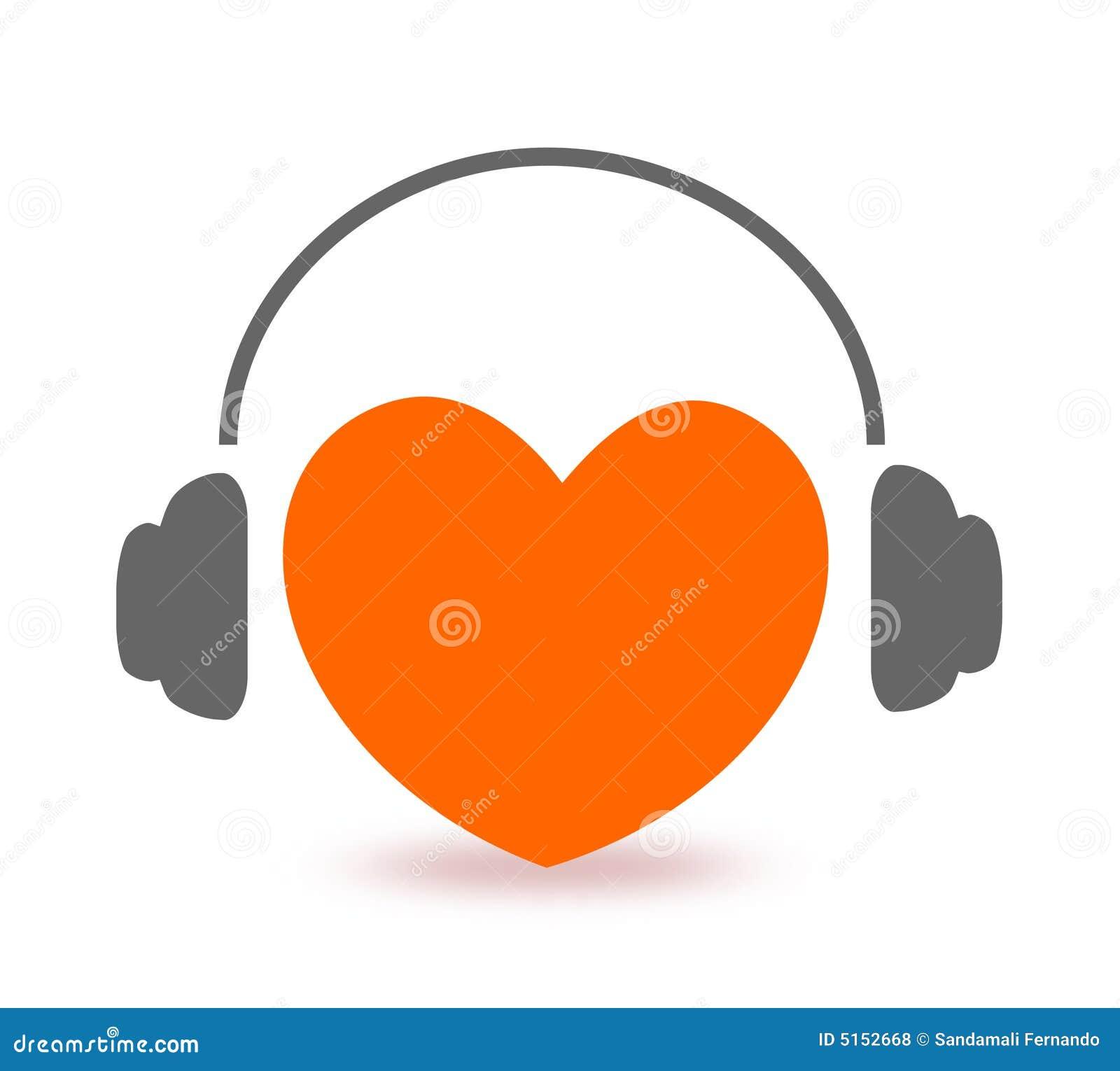Lyssnande musik för hjärta till