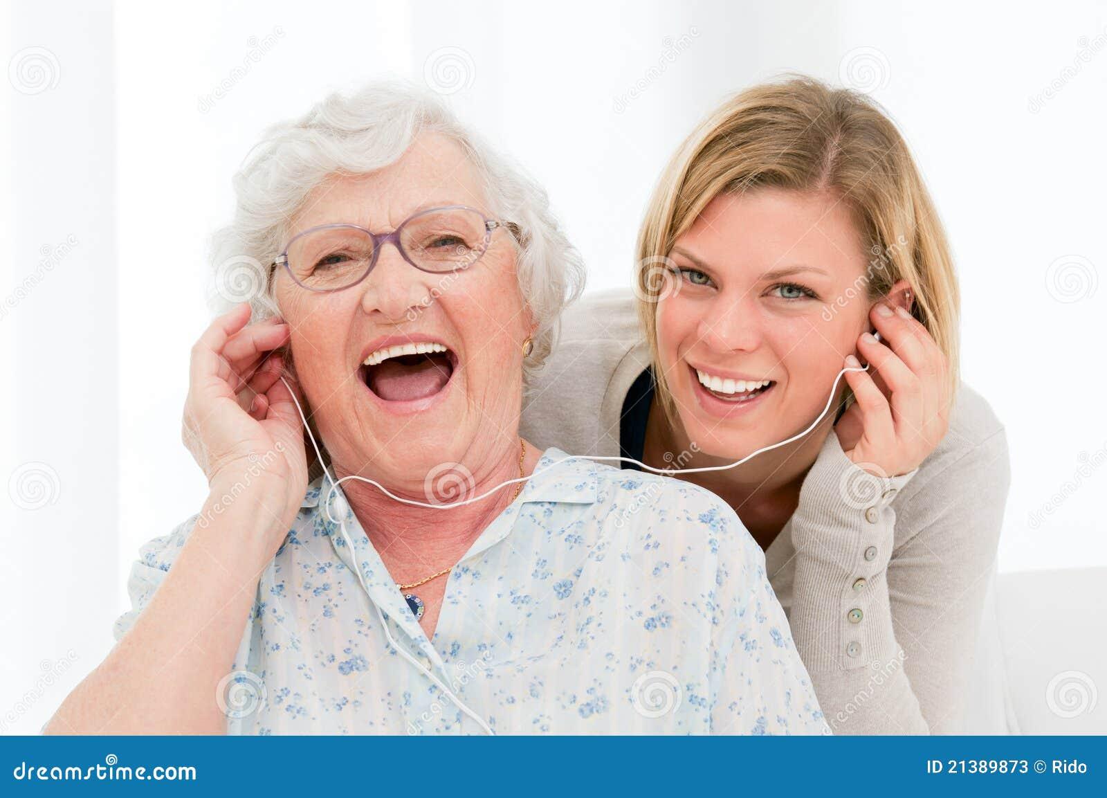 Lyssnande musik tillsammans