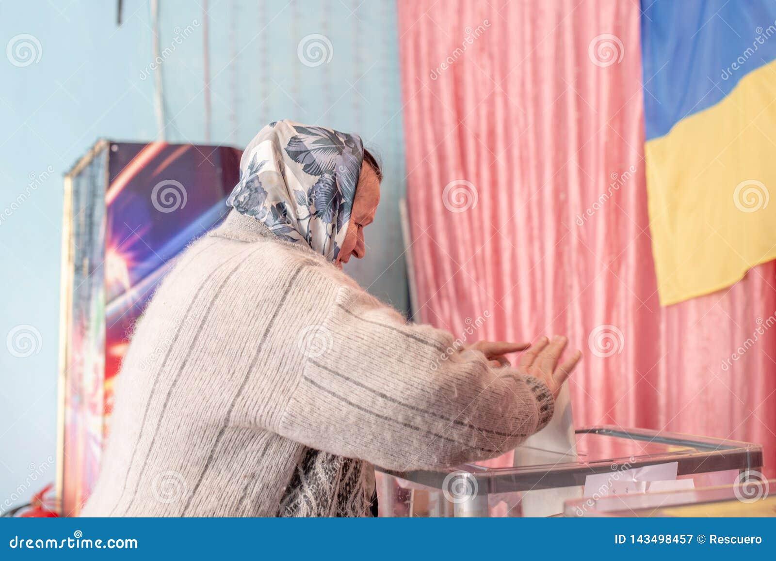 Lysychansk, Ucrania - elecci?n 03-31-2019 del presidente de Ucrania