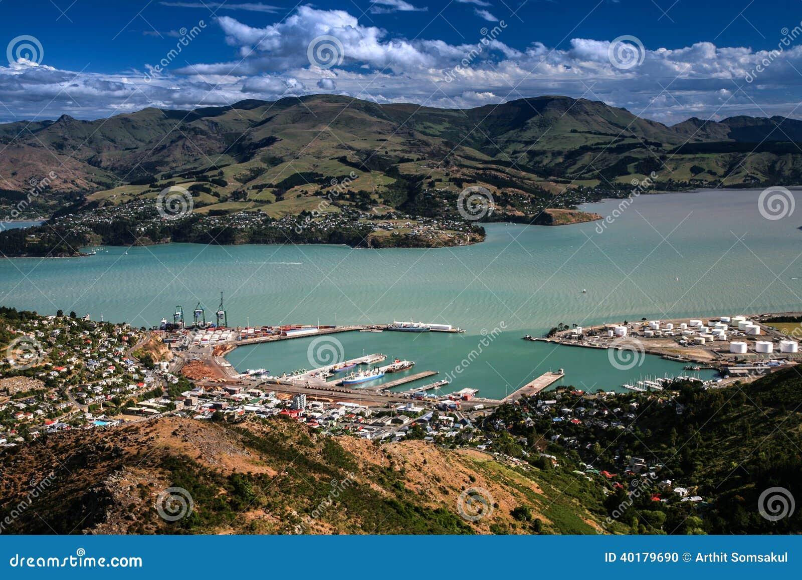 Neuseeland Christchurch Update: Lyttelton, Canterbury, Neuseeland Stockfoto