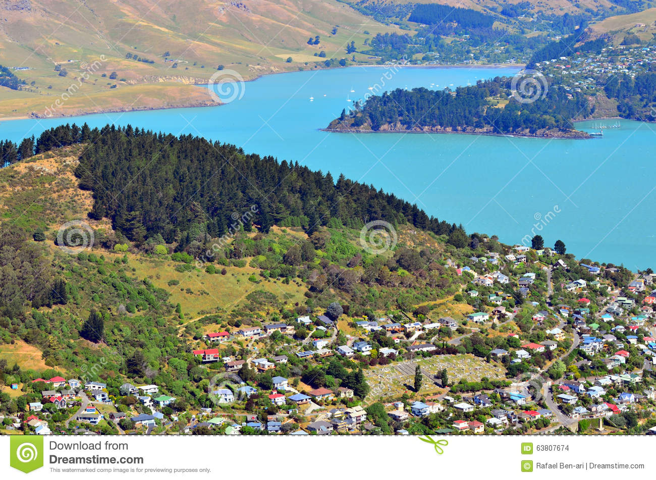 Lyttelton christchurch new zealand stock photo image for Landscaping christchurch