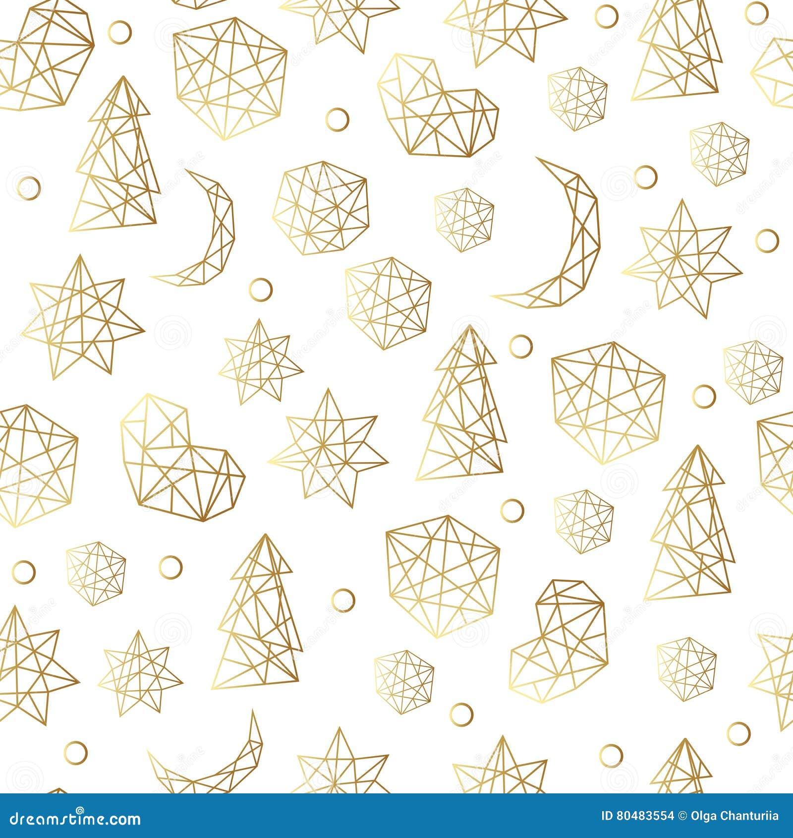 Lyxig guld- sömlös modell för nytt år och för jul med stjärnor, bollar, noel, måne Hälsningkort, inbjudan, reklamblad
