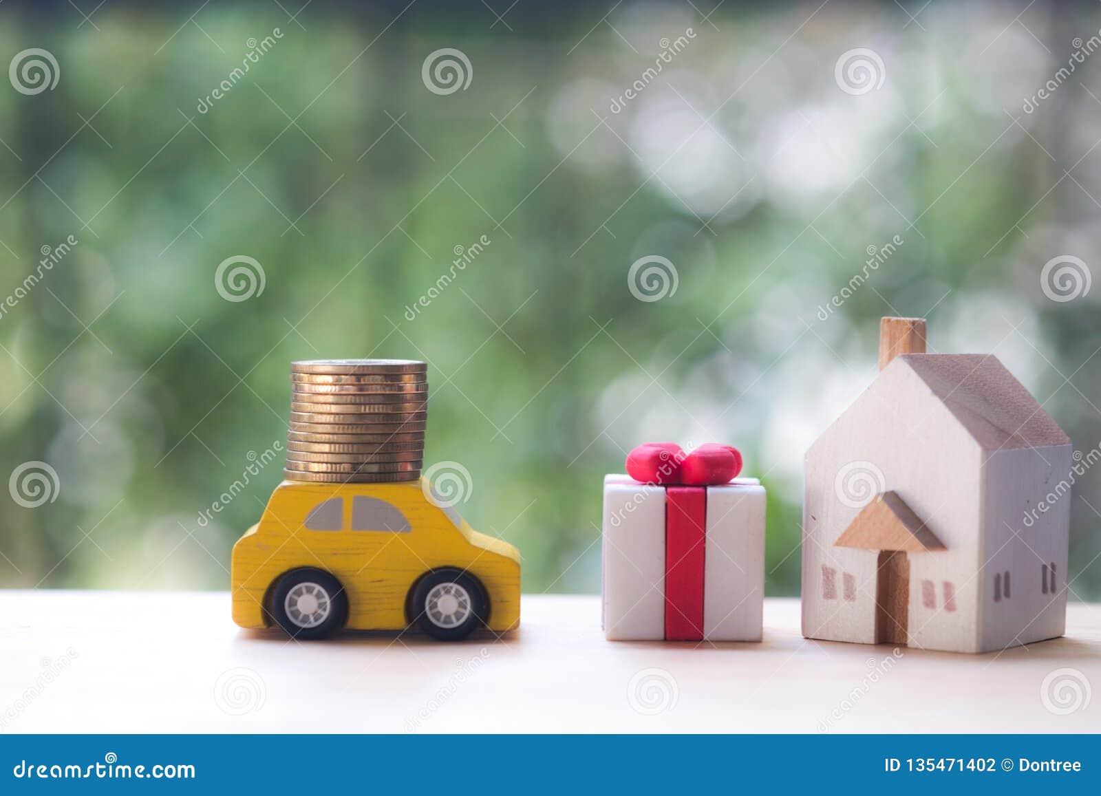 Lyxig livsstil med pengar, bilen och huset