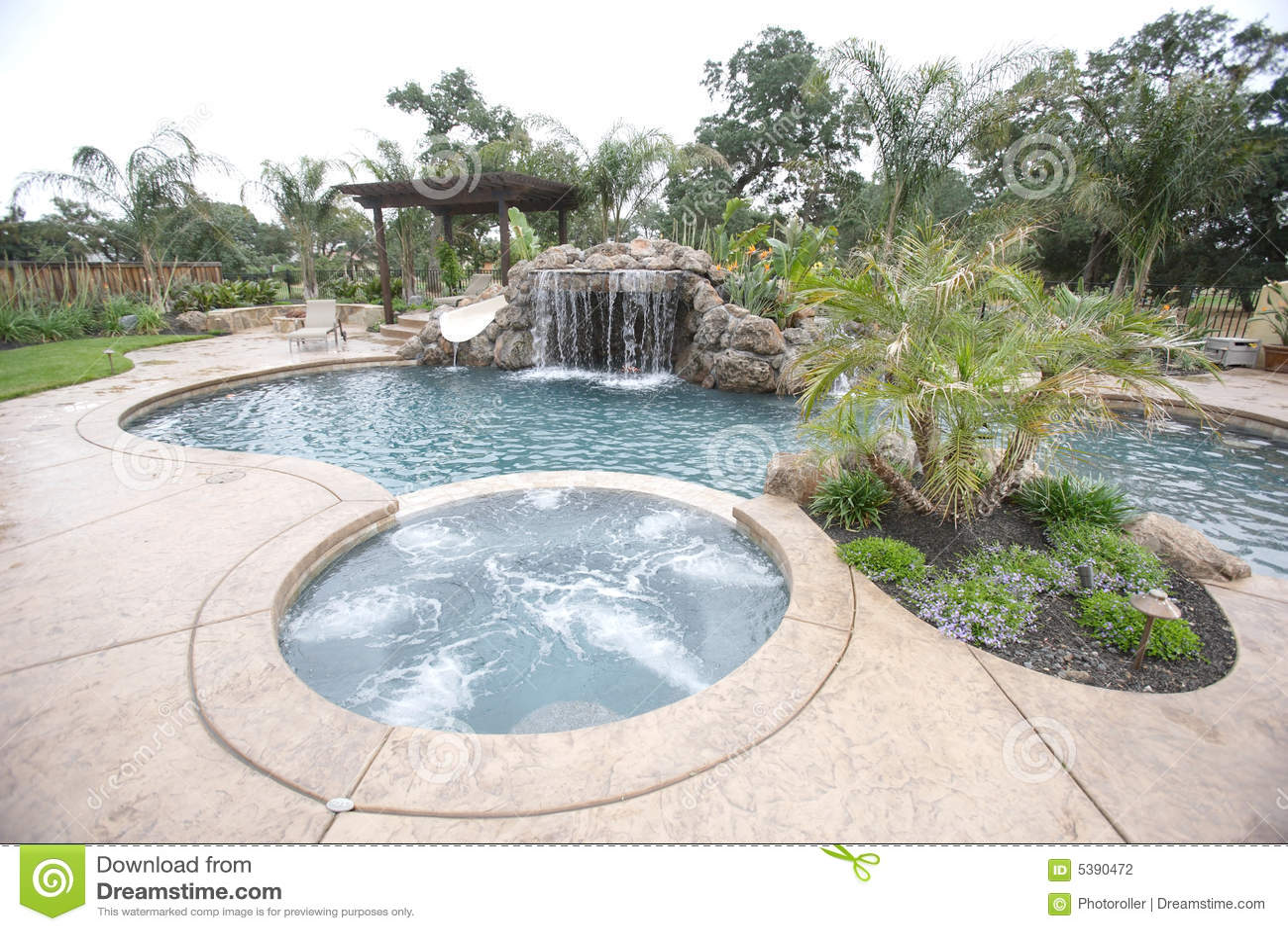 Lyxig pölvattenfall för trädgård