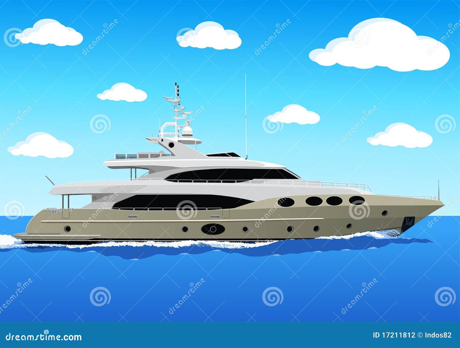 Lyxig privat yacht