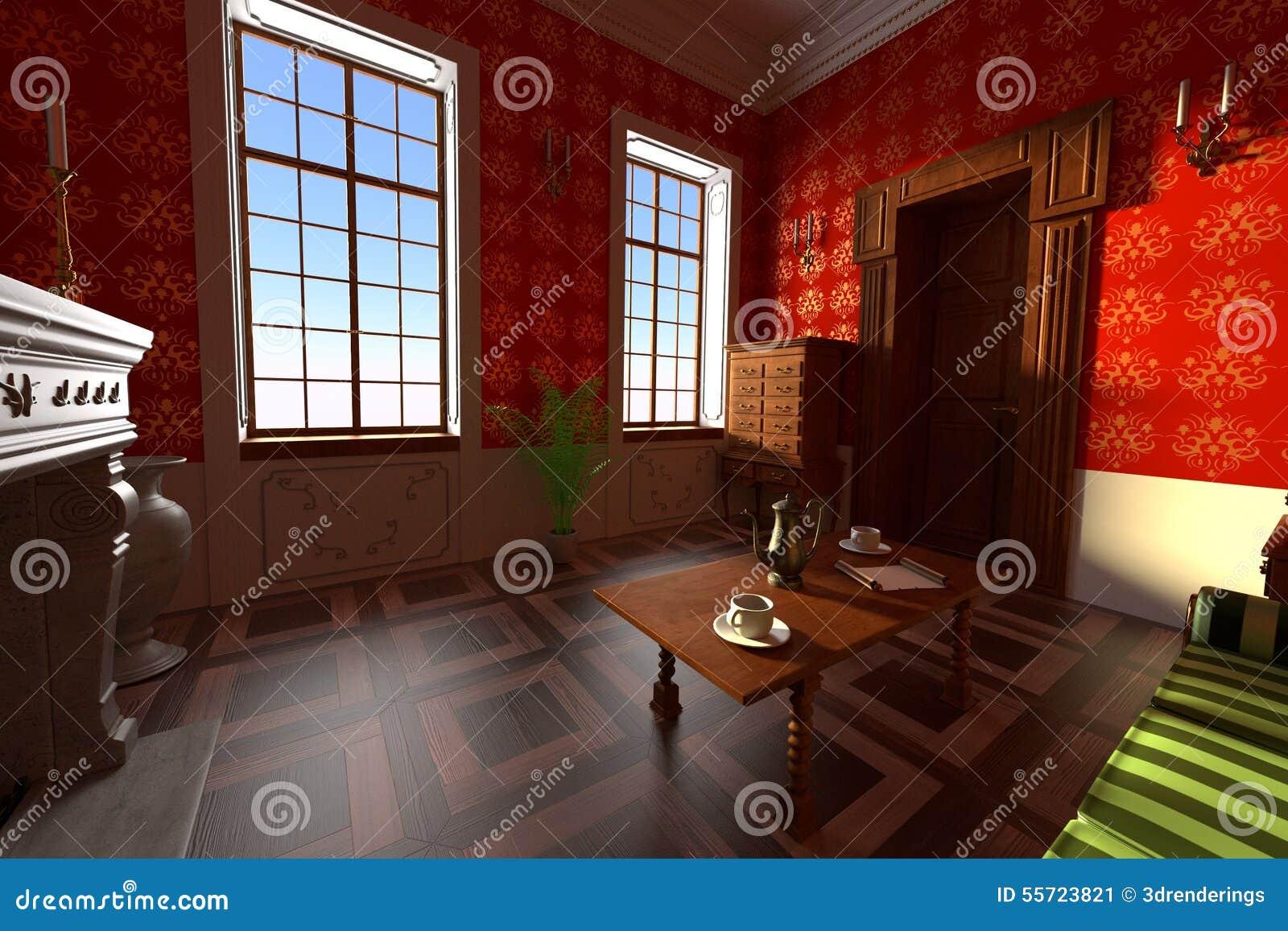 Lyxig säteriinre - vardagsrum