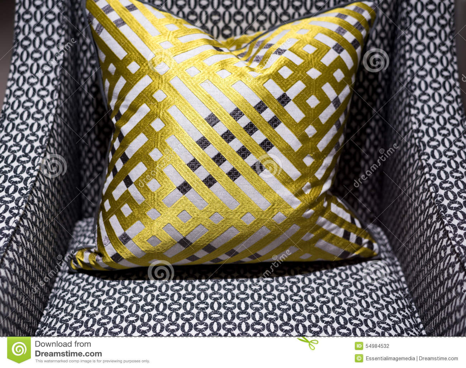 Lyxig stol och kudde
