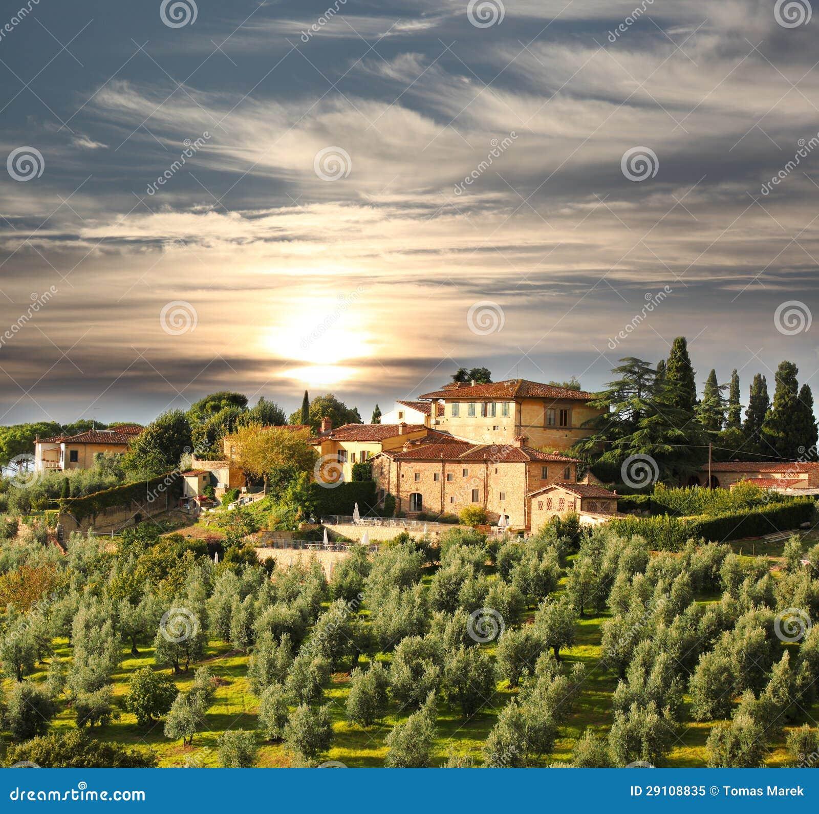Karta Italien Chianti.Lyxig Villa I Chianti Tuscany Italien Fotografering For Bildbyraer