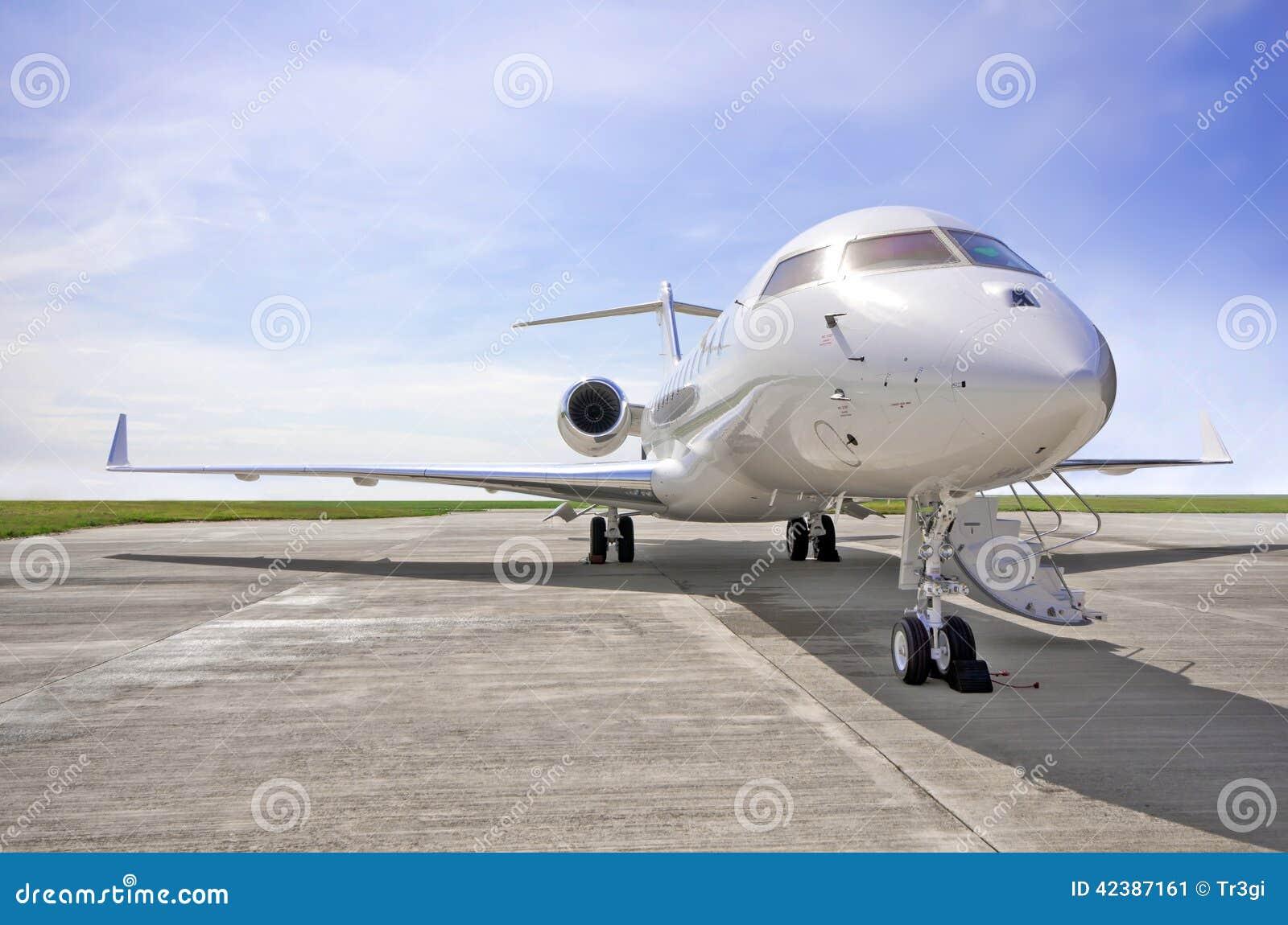 Lyxiga privata Jet Airplane - sidosikt - global Bombardier