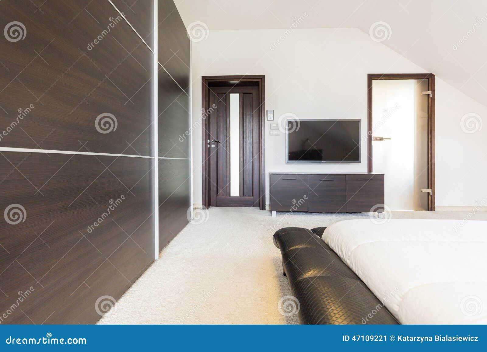 Lyxigt sovrum i modern design arkivfoto   bild: 47109221